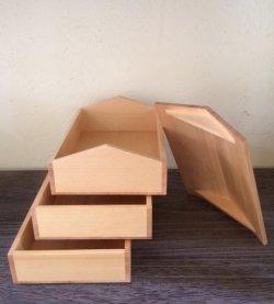 画像1: 中川木工芸比良工房 家型お重箱
